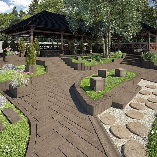 Palisaden, Stone Wood Modern